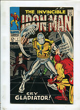 THE INVINCIBLE IRON MAN #7 (7.5) CRY GLADIATOR! 1968