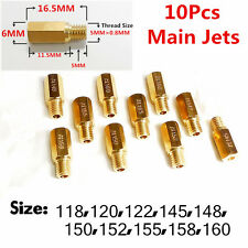 10Pcs Main Jet for Keihin OKO KOSO PE PWK Carburetor Choose from 118-160 OEM New