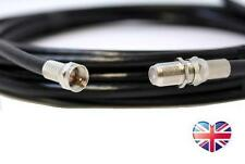 BLACK 25m Coaxial Satellite Extension Lead Cable - Sky Virgin TiVO Freesat