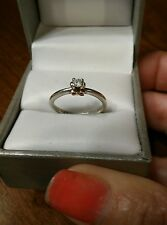 Miadora Sterling Silver & Rose Gold 1/6ct TDW Diamond Bow Promise Ring (52)