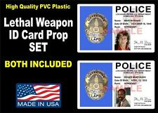Lethal Weapon ID Badge Prop Set (RIGGS & MURTAUGH LA POLICE ID'S) BOTH INCLUDED!