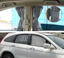 Universal 2x70CM Adjustable Car UV Window Auto Sunshade Curtain Protection Grey