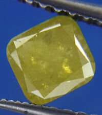 0.60TCW Yellow color Cushion shape Rose cut Loose Antique Africn Natural Diamond