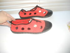 Arche France ~ Art to Wear ~ Ladybug Red Cutout Flat Comfy Sporty Shoes ~ 39/40