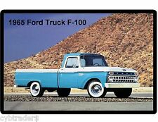 1965 Ford Pick Up Truck  F-100 Blue & White  Refrigerator / Tool Box   Magnet