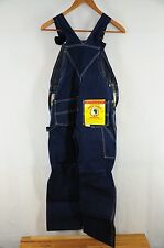 Vintage New Deadstock Men's 1940s 50s Sanforized Duck Head Denim Overalls 30W