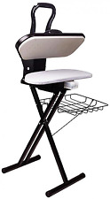 Free Standing Steam Iron Press Ironing Folding Ironing Board Garments Basket