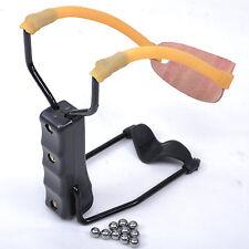 Pro esterno Fionda Slingshot Catapulta Pocket Supporto Spring sfere di acciaio