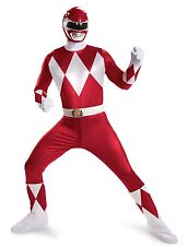 RED Mighty Morphin Power Rangers Adult SUPER DELUXE Classic Costume Men XXL