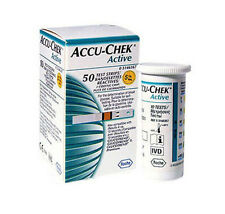ACCU-CHEK Active Test Strips 100 Sheets Diabetics Aids Blood Health Hematocrit