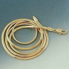 "18k Yellow Gold Filled Mens/Womens Necklace Snake Chain 24"" Link Charms Jewelry"