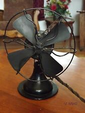 "Antique GILBERT 8"" POLAR CUB  Desk Top Electric Fan CAST IRON BASE"