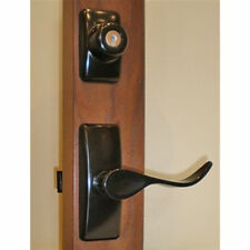 Storm Door Hardware Handle Set-Black-2 Piece for 1-1/2 Inch Thick Door-90168-061