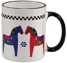 Swedish Old-Style Dala Horse Coffee Mug Cup