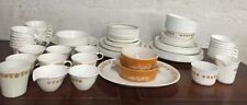110 Pieces! Huge Set Vintage Corelle Golden Butterfly  Plates Bowls Cups Saucers