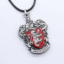 New Harry Potter Gryffindor Logo Metal Necklace Keychain Silver Color