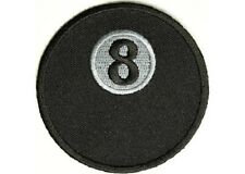 8 BALL EMBROIDERED IRON ON BIKER PATCH