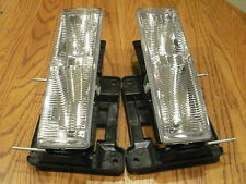 NEW gmc SIERRA Headlights Headlamps & NEW Bulbs 1990 1991 1992 1993 1994 1995 96