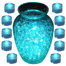 Submersible Waterproof Battery LED Tea Light ~ TEAL ~ 10 Pack Wedding Decoration