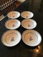 JOHNSON BROTHERS * Ironstone, 1H3, Floral Dessert / Fruit Small Bowls, Set of 6