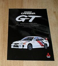 Mitsubishi carisma/lancer evolution gt brochure flyer 1998
