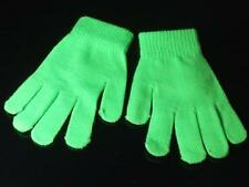 Neon green winter fashion ladies womens gloves