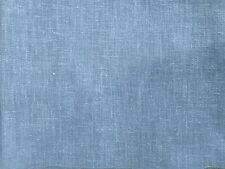 PURE NATURE AZURE BLUE PLAIN COTTON LINEN MIX SOFT CURTAIN DRESSMAKING FABRIC