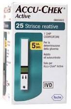 ORIGINALI ACCU-CHEK ACTIVE 25 STRISCE REATTIVE PER  GLICEMIA ACCUCHEK ACCUCHECK