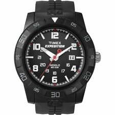 "Timex T49831, Men's ""Expedition"" Black Resin Watch, Indiglo, Date T498319J"