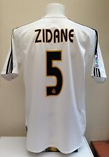 Real Madrid Football Shirt Jersey ZIDANE 5 Large L Adidas Home 2004 2005 Adult