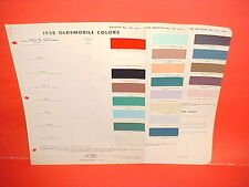 1958 OLDSMOBILE SUPER DYNAMIC 88 98 CONVERTIBLE HOLIDAY COUPE SEDAN PAINT CHIPS