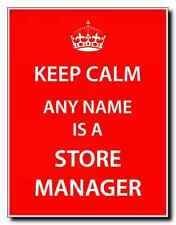 Store Manager Personalised Keep Calm Jumbo Magnet