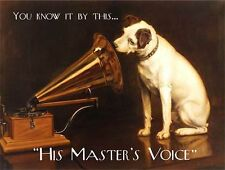 HMV Gramophone Dog, Music, Pub & Restaurant Master's Voice Medium Metal/Tin Sign