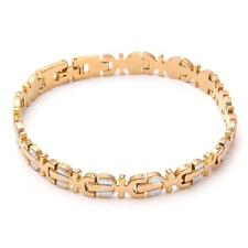 10KT Yellow Gold Filled Men's Bracelet Chain Jewelry 17.5g B63