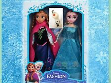 "3 PCS Kids Gift Playset Frozen Princess Elsa&Anna&Olaf 12"" 30CM Doll Figures"