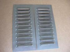"5"" Pair Straight Aluminum Louvered Panels ,11 louvers ea  by RodLouvers"