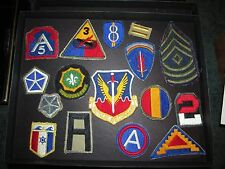 vintage military army unit patch lot of 16- ww2 50s 60s WWII,AIR FORCE,INFANTRY