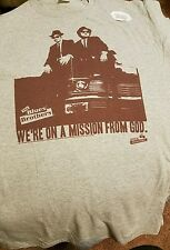 """2XL The Blues Brothers """"We're On A Mission From God"""" Gray T-Shirt Mens"""