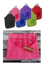 NEW Showman Pink Poly Rope Net HORSE HAY TOTE LG 30x21 BAG Heavy Nylon Canvas