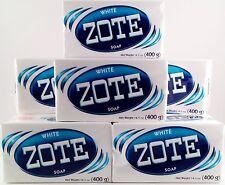 Zote White Laundry Soap 14 oz Bar 400g Lot of 8 JABON Prepper FRUGAL