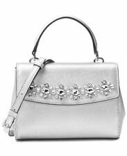 NWT in Pack MICHAEL KORS Jewel Crystal Mini Extra Small Ava Crossbody Bag Silver