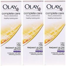 3 X 75ml Olay brillo radiante día líquido (Normal/Seca) Radiante Iluminador SPF 15