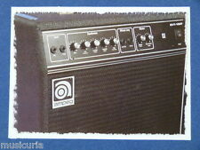 az/ handmade greetings / birthday card AMPEG BASS COMBO SVT 100T