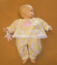 "CUSTOM MADE EASTER BUNNY DOLL PAJAMAS W/ BUNNY FOR 15"" BITTY BABY"