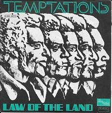"""45 TOURS / 7"""" SINGLE--THE TEMPTATIONS--LAW OF THE LAND / RUN CHARLIE RUN--1973"""