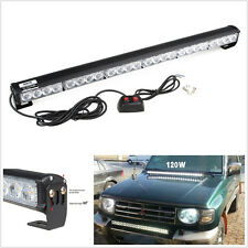 24 LED White Emergency Advisor Strobe Beacon Safety Warning Light Bar for Ford