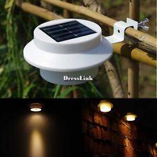 ♥♥ Pannello Solare 3 LED Luce Esterna Giardino Lampada Da Parete