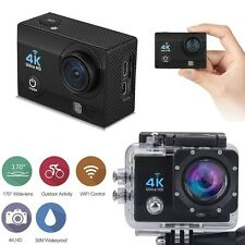 "12MP 4K FHD 1080P 2"" WIFI Sports Action Camera Video DVR DV Cam Bike Waterproof"