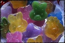 Easter Bunny Bath Soap for Kids 2oz : Glycerin Soap, Purple, Blue, Pink, Green