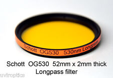 Schott OG530 52mm x 2mm thk 530nm Longpass Infrared Color IR Photography Filter